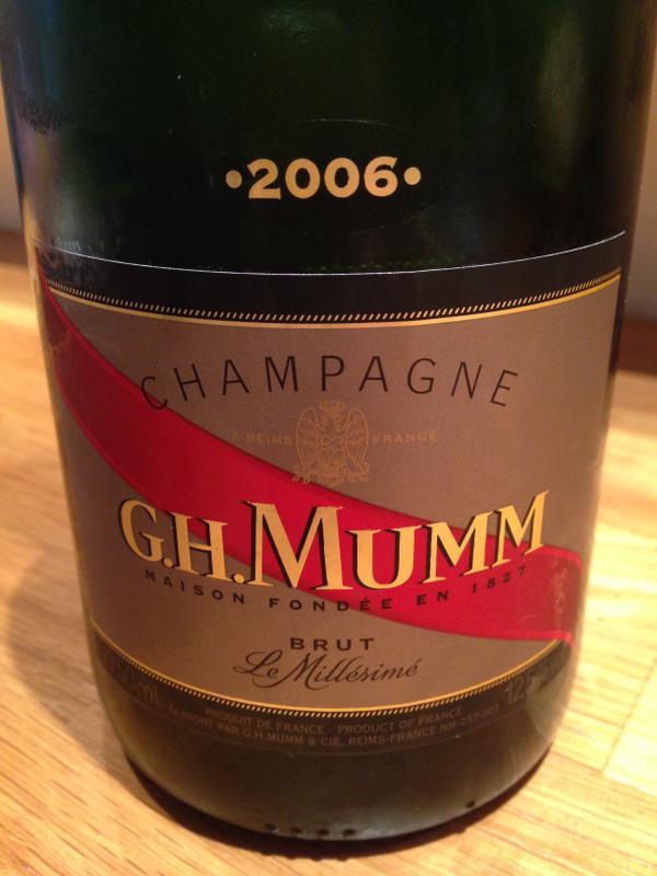 ghmumm champagne cordon rouge millésimé