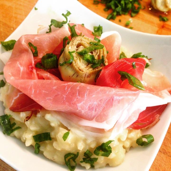 risotto-artichaud-parmesan-speck